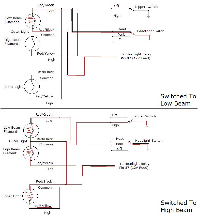 Single Headlight Wiring Diagram - Wiring Diagrams 24 on